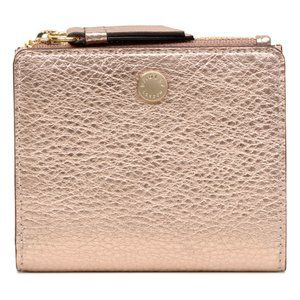 NWT- Radley Rose Gold Small Metallic Wallet